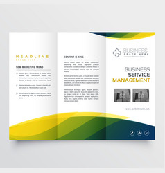 Creative business tri-fold brochure leaflet vector