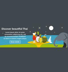 Discover beautiful thai banner horizontal concept vector