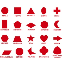 Education basic geometric shapes vector