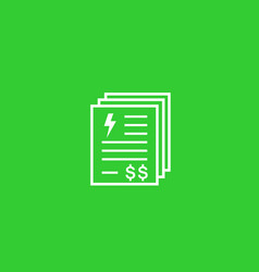 electricity utility bills and payments icon vector image