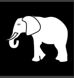 Elephant white color icon vector