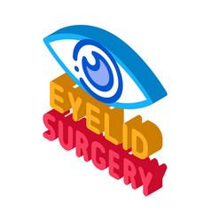 Eyelid surgery isometric icon vector