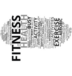 fitness and health guide for busy moms text vector image