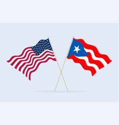 flags usa and puerto-rico together a symbol of vector image