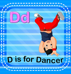 Flashcard letter d is for dancer vector