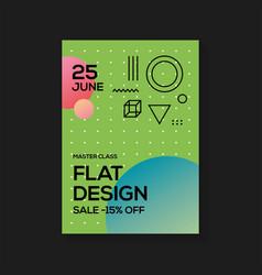 Flat design poster templates vector