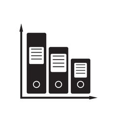 Flat icon in black and white documents folder vector