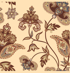flourish seamless pattern floral background vector image