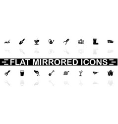 garden - flat icons vector image