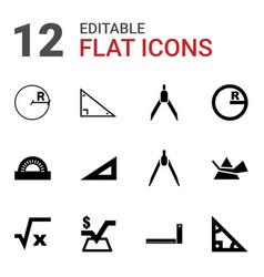 Geometry icons vector