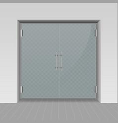 glass entrance door vector image