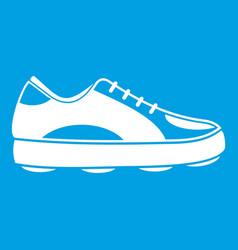 Golf shoe icon white vector