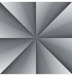 Gray and white shiny folded paper triangles vector