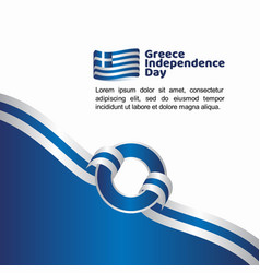 greece independence day flag template design vector image
