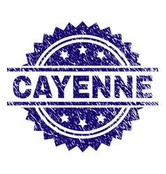 Grunge textured cayenne stamp seal vector