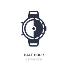 Half hour icon on white background simple element vector