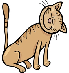 happy cat cartoon vector image