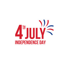 happy independence day fourth of july vector image