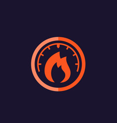 Heat level meter icon vector