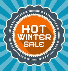Hot Winter Sale Retro Blue Background vector image