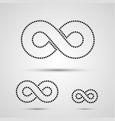 infinity icon set black template design element vector image