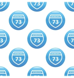 Interstate 73 sign pattern vector image