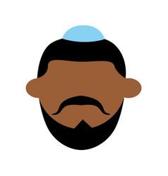 Jew using kipa vector