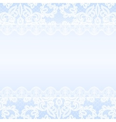 Lace border on blue background vector