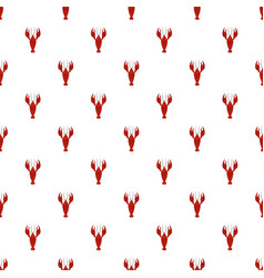 Lobster pattern seamless vector