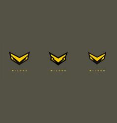 M logo vector