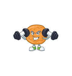 Mascot design grinning fitness exercise molasses vector