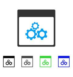 Mechanics gears calendar page flat icon vector