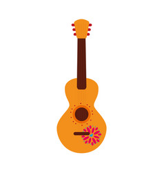 mexican guitar instrument musical carnival design vector image