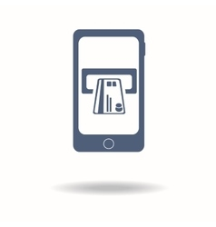 Mobile phone with pos terminal icon payments vector