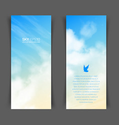 Narrow vertical banners with realistic vector