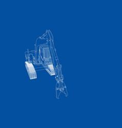 outline sloopkraan concept vector image