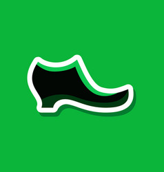 Paper sticker fashion footwear women boot vector