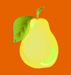 Pear Yellow pear with volume highlights on an vector