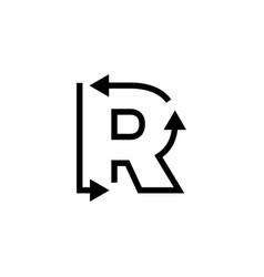 R letter recycle logo icon vector
