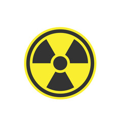 Radiation symbol or radioactive warning icon vector