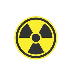 radiation symbol or radioactive warning icon vector image