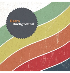 Retro background with colorful lines vector