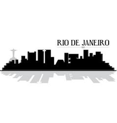 Rio de janeiro skyline silhouette vector