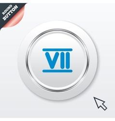 Roman numeral seven icon Roman number seven sign vector image