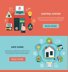 Safe home horizontal banners vector
