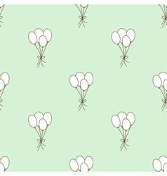 Seamless pattern balloon vector image vector image
