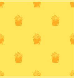 seamless pattern minimalist french fries on vector image