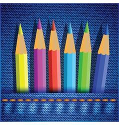 Set of colored pencils vector
