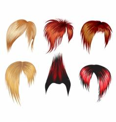 set of hair style samples vector image