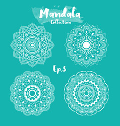 set of mandala decorative and ornamental design vector image